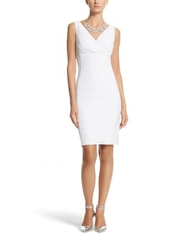 Instantly Slimming Sleeveless Ruched Dress