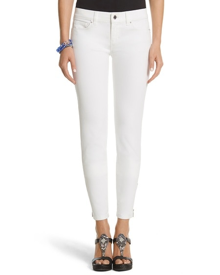 Skimmer Zipper White Jean