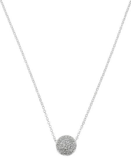 Pave Circle Pendant Necklace