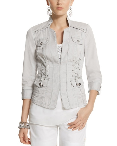 Laced Notch Collar Jacket