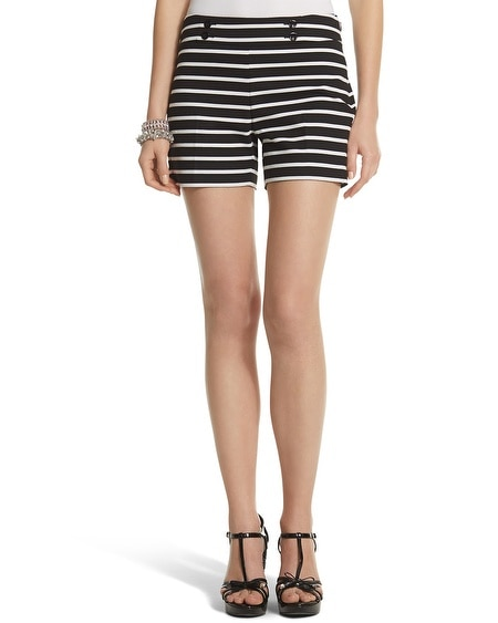 Ponte Striped Short