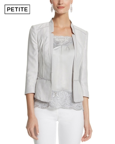 Petite Shimmer Tweed Jacket