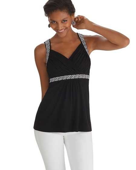 Sleeveless Embroidered Empire Top