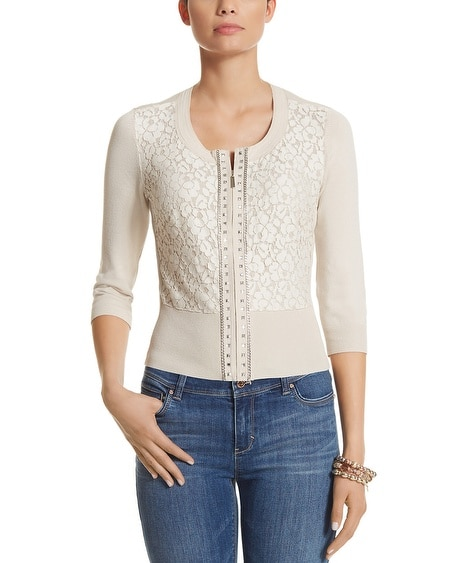 Lace Zip Cardigan