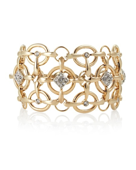 Gold Diamond Clustered Bracelet