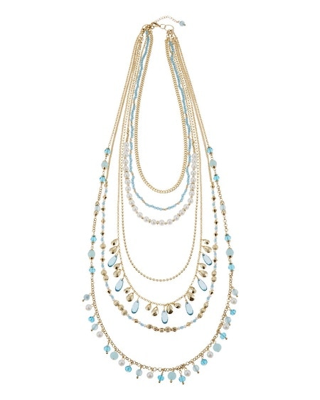 Cerulean Pearl Long Necklace