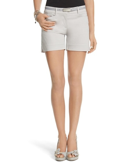 Neutral Sateen Short