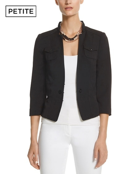 Petite Seasonless Stand Collar Jacket