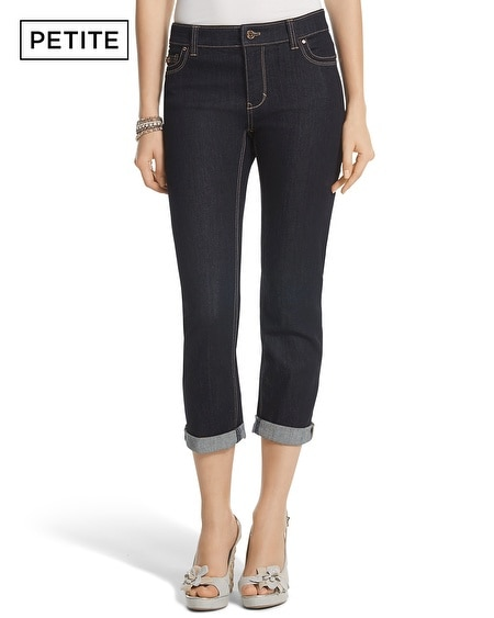 Petite Saint Honore Essential Crop Dark Jean