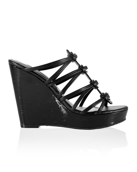 Black Patent Grommet Wedge