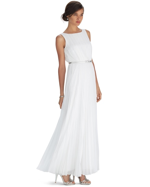 1717c14f719 Return to thumbnail image selection Sleeveless Pleated Maxi Dress video  preview image