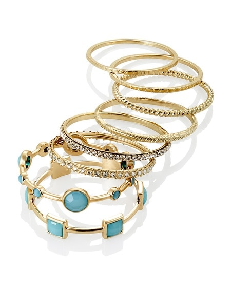 Cerulean Bangle Bracelet Set