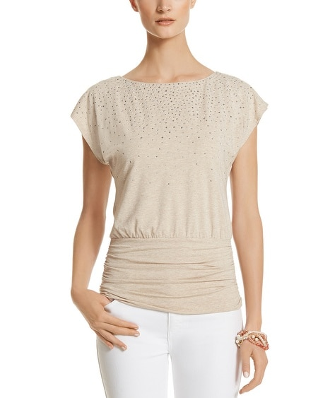 Embellished Dolman Knit Top