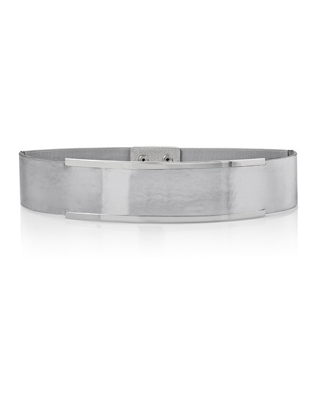 silver wide stretch belt whbm