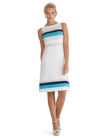 Sleeveless Colorblock Shaped Shift Dress
