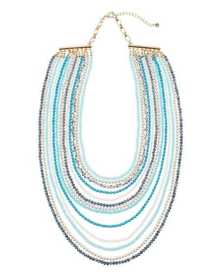 Cerulean Beaded Layer Necklace