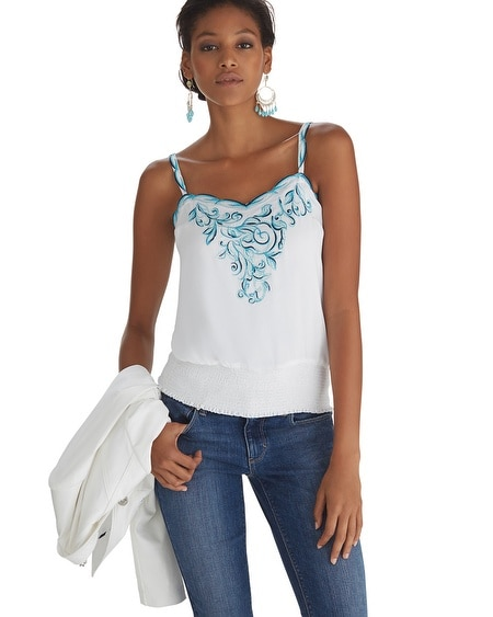 Scalloped Embroidered Cami