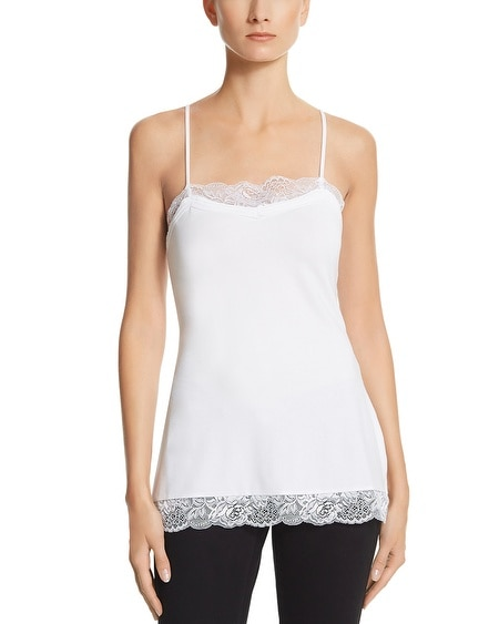 Long Lace Trim Cami