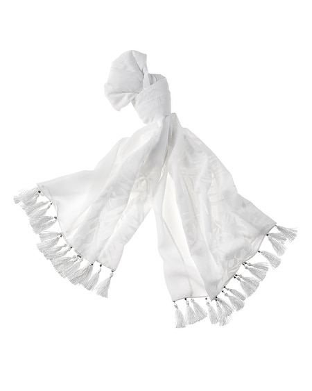 Mixed Cotton Burnout Scarf