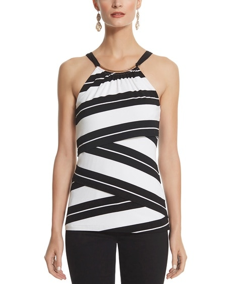 Stripe Tiered Halter Top