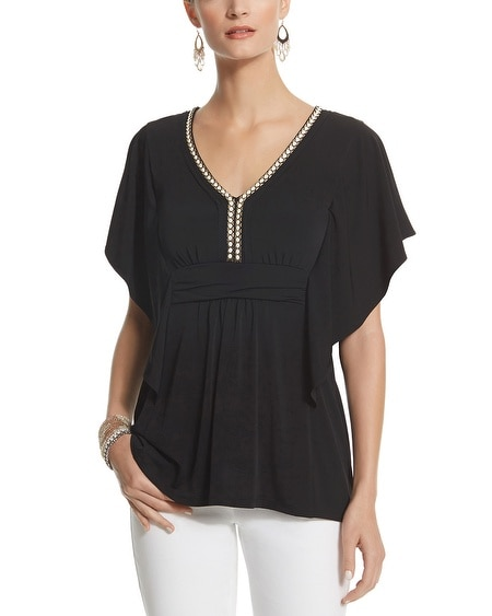 Chain Neck Tunic Top