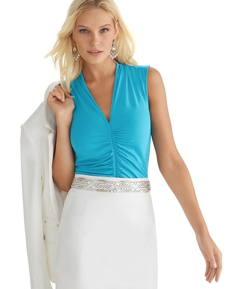 Extended Sleeve Ruched Front Top