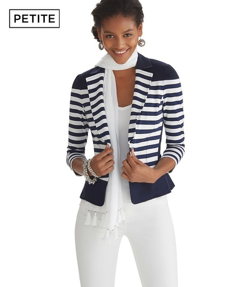 Petite Nautical Knit Jacket