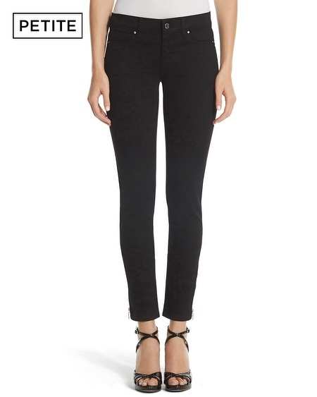 Petite Saint Honore Skimmer Zipper Black Jean