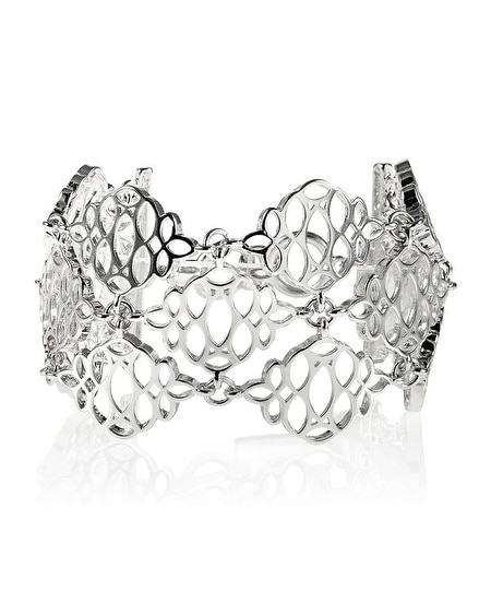 Silver Cutout Statement Bracelet