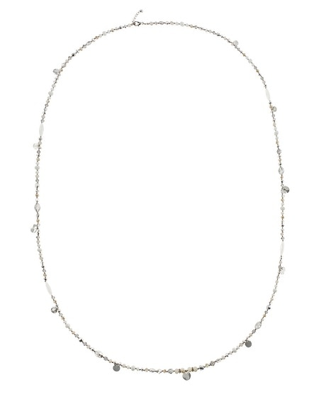 White Opaque Long Necklace