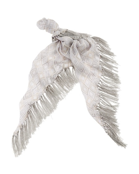 Diamond Burnout Scarf