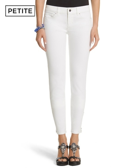 Petite Saint Honore Skimmer Zipper White Jean