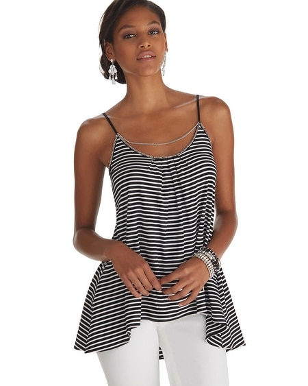 Chain Neck Stripe Cami