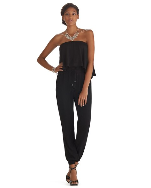 Strapless Boho Casual Jumpsuit - White House Black Market