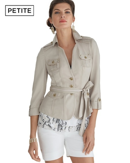 Petite Belted Casual Jacket