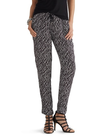Drapey Printed Ankle Pant