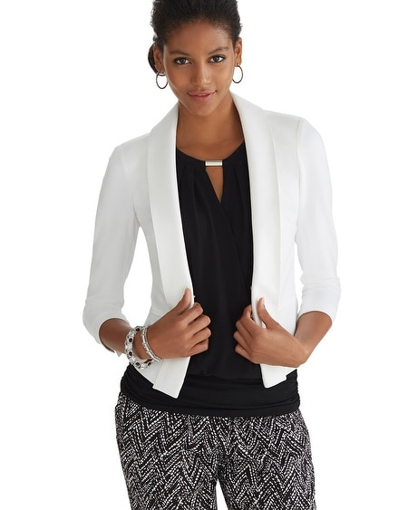 Drape Knit White Jacket
