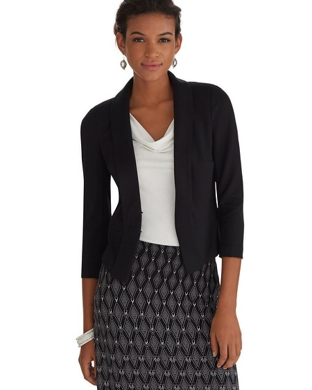 Drape Knit Black Jacket