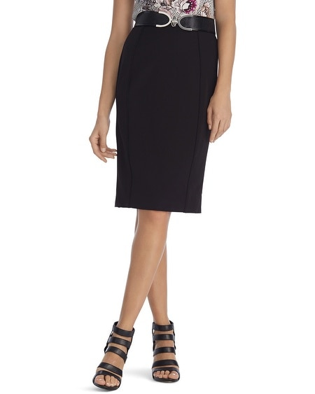 Seasonless Black Pencil Skirt