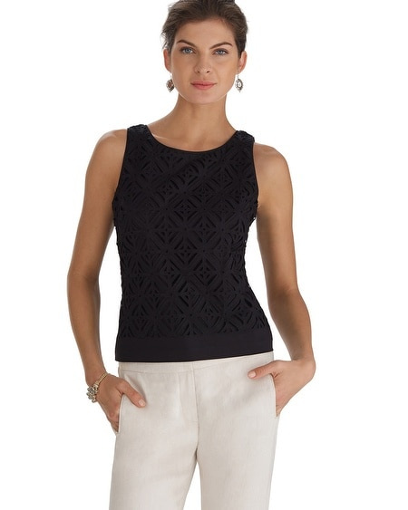 Geometric Cutout Bodice Top