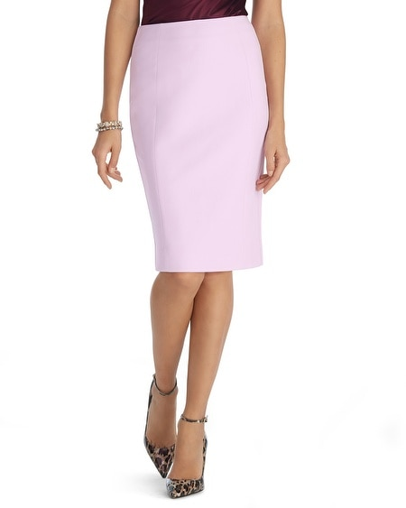 Textured Pink Pencil Skirt