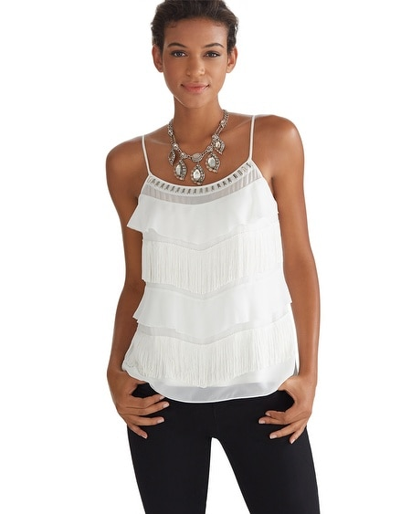 Tiered Fringe Embellished Cami