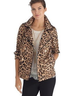 Leopard Print Swing Jacket