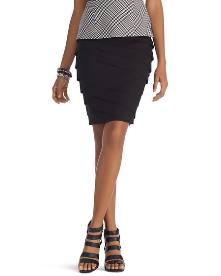 Tiered Instantly Slimming Pencil Skirt