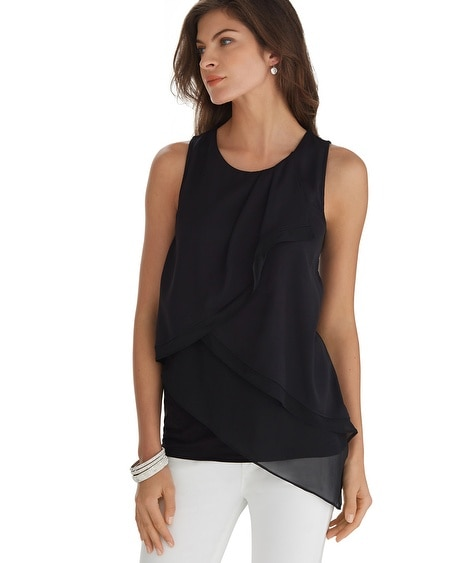 Sleeveless Tiered Shell Top