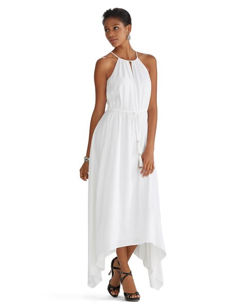 80fc65c930 Return to thumbnail image selection Sleeveless Cut-in Blouson High-Low Maxi  Dress video preview image