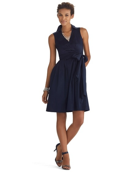 Sleeveless Wrap Fit & Flare Dress