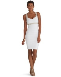 Sleeveless Embellished Instantly Slimming Dress
