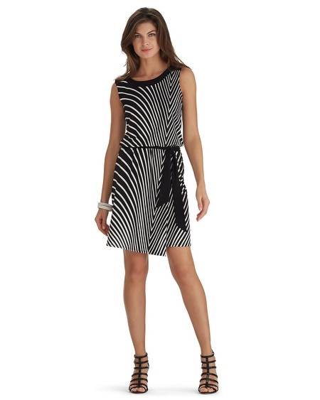 Sleeveless Stripe Blouson Dress
