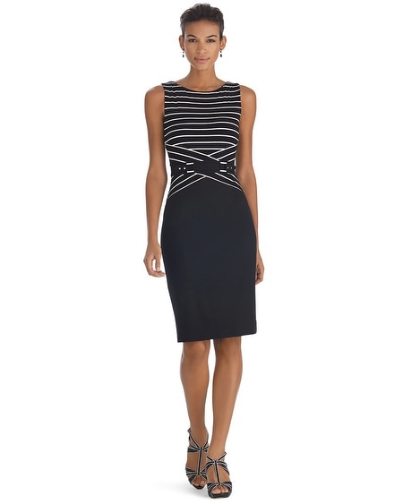Sleeveless Stripe Sheath Dress